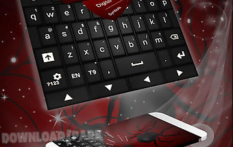 Black widow keyboard theme