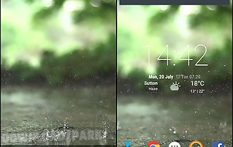 Real rain live wallpaper