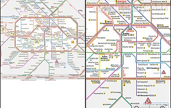 Berlin subway route network