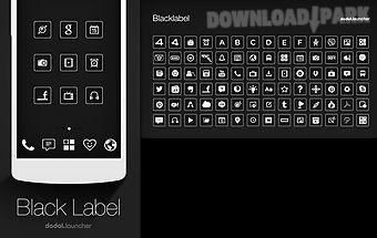 Blacklabel line launcher theme