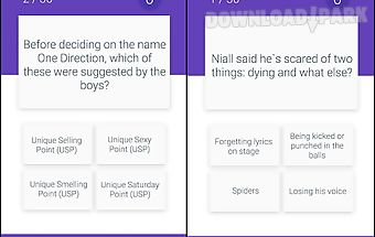 Fan quiz for one direction