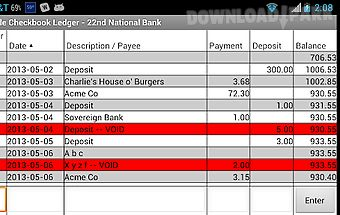 Simple checkbook ledger free