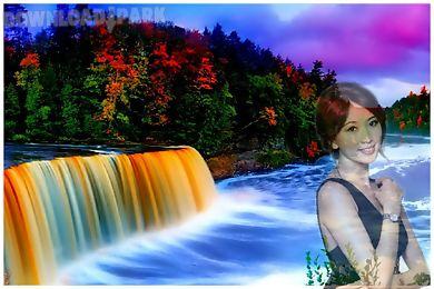 waterfall photo frame