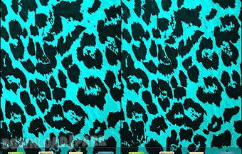 Teal leopard print live wallpape..