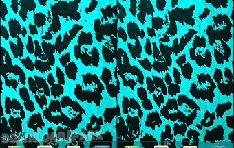 Teal leopard print live wallpape..