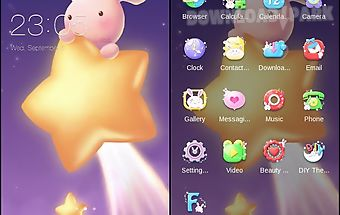 Cute bunny c launcher theme