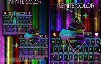 Infinite color keyboard theme