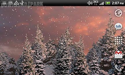 snowfall free live wallpaper android animiert hintergrundbild kostenlose herunterladen in apk. Black Bedroom Furniture Sets. Home Design Ideas