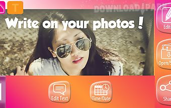 Photo editor text on pics