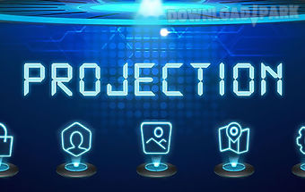 Projection go launcher theme