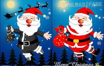 Santa claus dress up and ecards