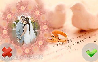 Wedding frames of love