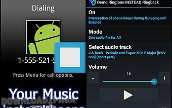 Demo ringtone instead ringback