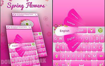 Go keyboard spring flowers