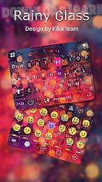 rainy glasskeyboard theme