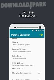 material status bar notific