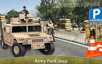 Military jeep parking driving