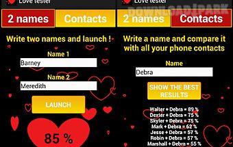 Compatibility love tester