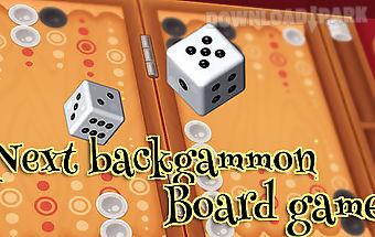 Next backgammon: board game