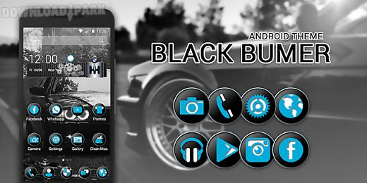 Black bmw theme Android App free download in Apk