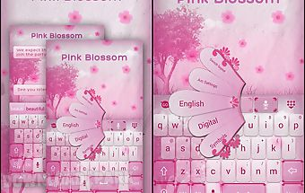Pink blossom go keyboard theme