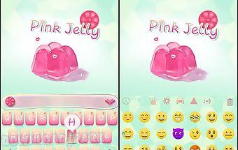 Pink jelly ikeyboard theme