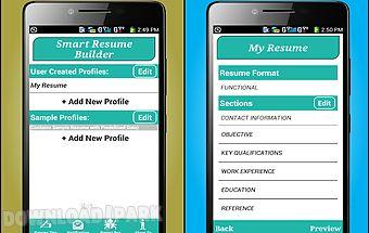 Smart resume builder / cv free