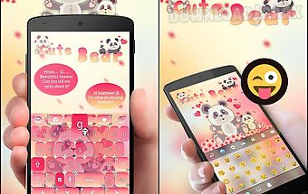 Cute bear go keyboard theme