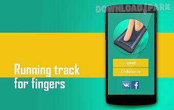 Fingers running track