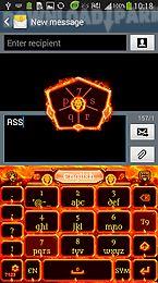 go keyboard fire skull theme