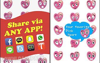 Pink love emoji sticker art