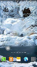 Free Apk Files Landscape Live Wallpapers Frozen Waterfalls