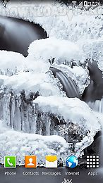 frozen waterfalls