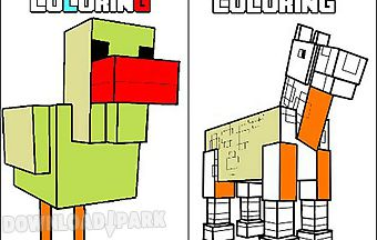 Minecraft coloring 10