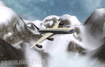 Flight simulator snow plane 3d