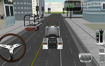 Car transport parking sim game