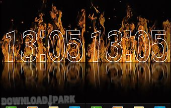 Fire clock live wallpaper