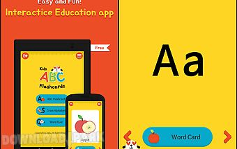 Kids abc alphabet flashcards