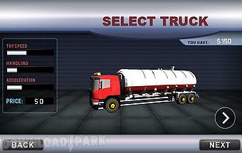 Oil truck transporter 3d