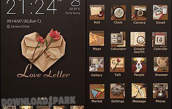 Love letter go launcher theme