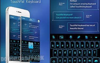 Neon blue light keyboard theme