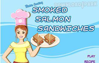 Barbie cooking smoked salmon san..