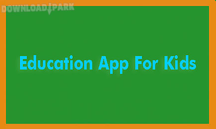 education app for kids