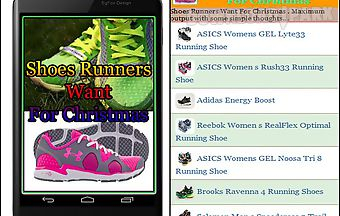 Shoes runners want for christmas