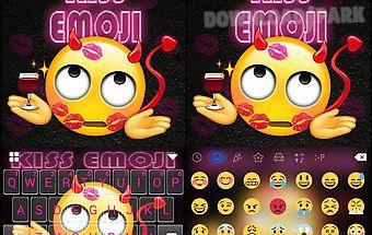 Kiss emoji kika keyboard theme