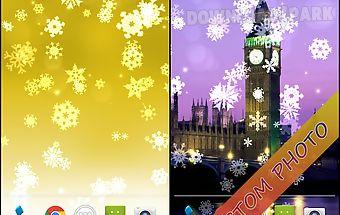 Snowflake xmas live wallpaper