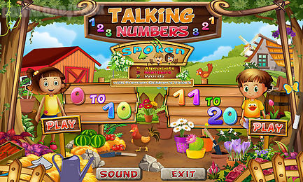 free e-learning for kids - talking numbers