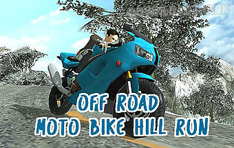Off road moto bike hill run