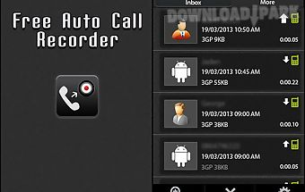 Free auto call recorder