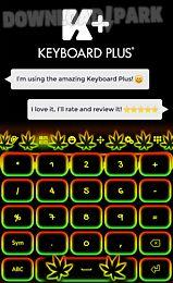 keyboard neon rasta